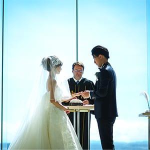 おふたりだけの結婚式の様子