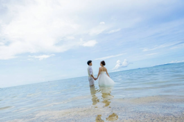 WEB限定 Trash The Dress 海灘婚紗攝影方案 Simple(宮古島)
