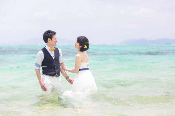 "Location Photo ""Trash The Dress""Basic Plan (Ishigakijima)"